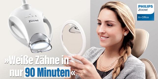 Zahnaufhellung mit Philips Zoom